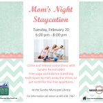 Mom's Night 'Staycation' @ Sundre Municipal Library