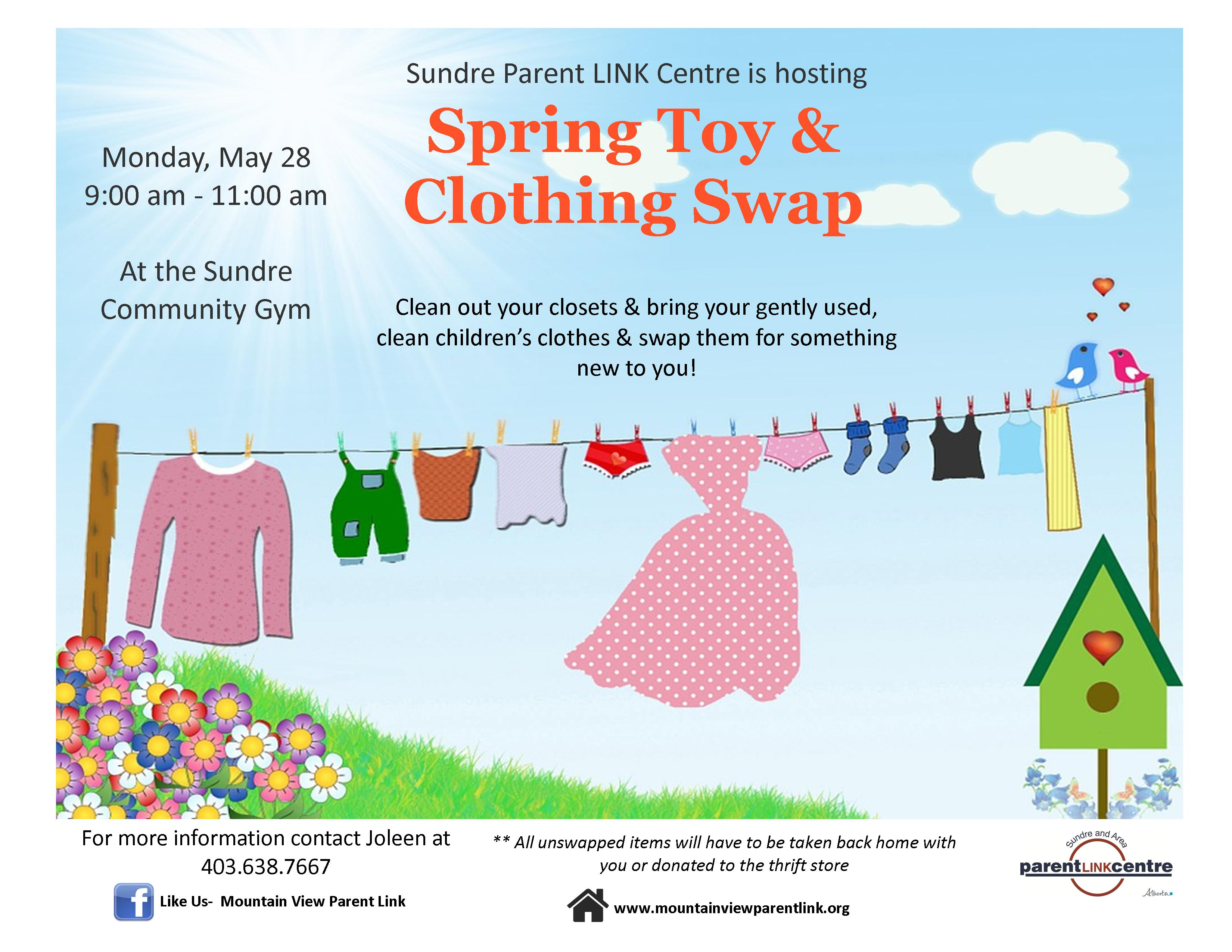 Spring Toy & Clothing Swap – Mountain View Parent Link